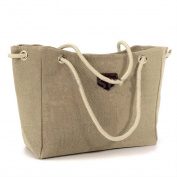 KHAKI - US Women Canvas Shoulder Messenger Purse Satchel Tote Handbag Pouch Bag Shopping -