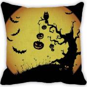 Ikevan® Halloween Pumpkin Square Pillow Cover Cushion Case Pillowcase Zipper Closure(46cm x 46cm )