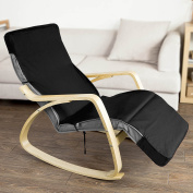 SoBuy Cover for Rocking Chair Lounge Chair, Chair Cushion Cover, Cover Only! Black, FSB01-SCH