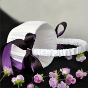 Whitelotous Bowknot Wedding Ceremony Flower Girl Satin Basket Decor White