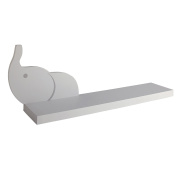 Happy Chic Baby by Jonathan Adler Taylor Elephant Wall Shelf, Grey