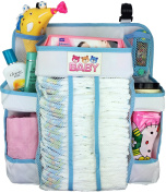 Crib and Changing Table Organiser - Non-Sagging Nursery Organiser For Nappies, Wipes, Creams, Small Toys and Other Baby Essentials