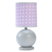 Happy Chic Baby by Jonathan Adler Emma Lamp & Shade, Grey/Purple