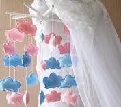 Handmade Nursery Mobile Felt Cotton Wooden Children Room Decor