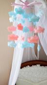 Handmade Mobile Felt Nursery Cotton Wooden Children Room Decor