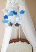 Handmade Mobile Felt Cotton Nursery Wooden Children Room Decor