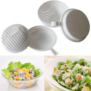60 Seconds salad maker Bowl ,Tuscom 60 Seconds Salad Maker Healthy Fresh Salads Made Easy Salad Cutter Bowl