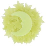 eBoot 275 Pieces Different Sized Glow Star and 10 Pieces Glow in the Dark Moon with Double-sided Stickers