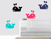 Whales - Marine Animals - Baby Boy - Wall Decal Nursery For Home Bedroom Children (77 Ene)