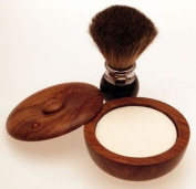 Diamond Edge Badger/bristle shaving brush & shaving bowl