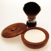 Diamond Edge Dark Badger Hair shaving brush & shaving bowl