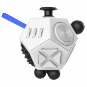 Kimilar 12 Sides Fidget Cube Spinner Toy Stress Anxiety Relieves Stress and Anxiety and Relax for Children and Adults,Multi Colour