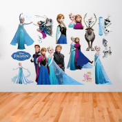 Apex Removable Disney Elsa Anna Frozen Wall Stickers Decal DIY Mural Removable Home Decor Child Room Frozen SW2 50 x 70 cm