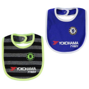 Chelsea Football Team 2 Pack Bibs Babies Blue/Black Soccer EPL The Blues