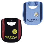 Manchester City Football Team 2 Pack Bibs Babies Blue/Black Soccer EPL Man Cty