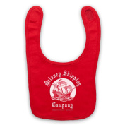 Taboo Delaney Shipping Company Baby Bib, Red
