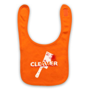 Inspired by Sopranos Cleaver Film Unofficial Baby Bib, Orange