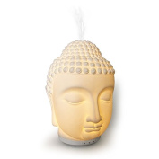 SpaRoom Zen Porcelain Buddha Head Ultrasonic Essential Oil Diffuser, 120mL