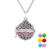 VALYRIA Magic Box Aromatherapy Essential Oil Diffuser Necklace Hollow Butterfly Locket Necklace