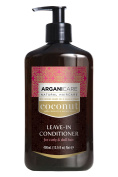Arganicare Moisturising Coconut Leave In Conditioner with Certified Argan and Coconut Oils for curly and dull hair 400ml