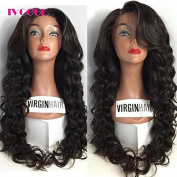 Glueless Full Lace Human Hair Wigs for Black Women Virgin Mongolian Human Hair Loose Bouncy Wave Lace Wig with Bleached Knots Baby Hair Free Part 60cm 130Density