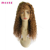 iVogue Hair #30 Honey Blonde Human Hair Wigs Virgin Brazilian Kinky Curly Lace Front Wig Glueless Lace Wigs Human Hair