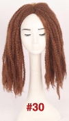Afro Kinky Curly Twist Braids Hair Extension Marley 46cm Havana Mambo Twist Crochet Braid Jumbo Synthetic Bulk Hair