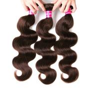 3 Pcs 25cm Aphro Hair Factory Brazilian Body Wave Human hair Extensions Brazilian Hair Weave Bundles 2# Dark Brown