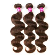 30cm 36cm 41cm Aphro Hair Factory Brazilian Body Wave Human hair Extensions Brazilian Hair Weave Bundles 4# Light Brown