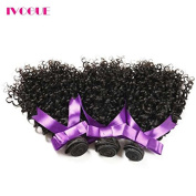 iVogue Hair Virgin Monglian Kinky Curly Virgin Hair Bundles Virgin Human Hair Extensions Natural Colour (100+/-5g)/pc 3pcs/Lot Remy Hair Weaves