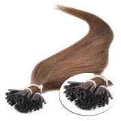 JIAMEISI Stick I Tip Human Hair Extensions 16 18 20 22 60cm 100 Strands 50g/pack for Women Beauty  .  60cm , #6)