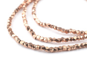 3mm Copper Cornerless Cube Beads - Full Strand of Ethnic Metal Spacer Beads - The Bead Chest