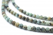 4mm African Turquoise Beads - Full Strand of Genuine Authentic Gemstone Beads - The Bead Chest