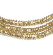 Brass Heishi Beads - Full Strand Ethiopian Metal Spacers for Jewellery Making - The Bead Chest