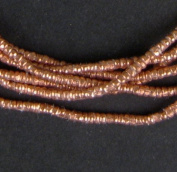 Copper Heishi Beads - Full Strand Ethiopian Metal Spacers for Jewellery Making - The Bead Chest