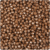 BEADTIN Chocolate Brown Opaque 4mm Faceted Round Craft Beads