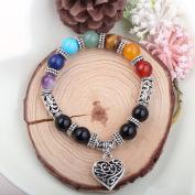 7 Chakra bracelet Chakras Stones Bracelet Gemstones Yoga Bracelets Healing Balance Heart Bracelets