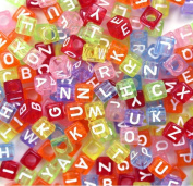 500PCS Beads Letter Beads Mixed Colourful Acrylic Plastic Beads Alphabet Beads for Jewellery Making for Bracelets Necklaces Key Chains and Kid Jewellery