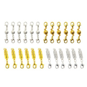 TEKEFT 6 Pcs Gold Colour and Silver Colour Magnetic Lobster Clasps for Jewellery Necklace Bracelet