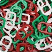 BEADTIN Christmas Mix Opaque 25mm Plastic Soda Pop Tabs