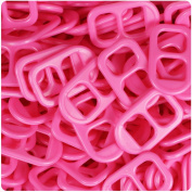 BEADTIN Dark Pink Opaque 25mm Plastic Soda Pop Tabs