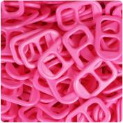 BEADTIN Dark Pink Opaque 25mm Plastic Soda Pop Tabs