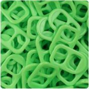 BEADTIN Lime Green Opaque 25mm Plastic Soda Pop Tabs