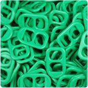BEADTIN Green Opaque 25mm Plastic Soda Pop Tabs