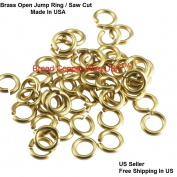 16 ga Solid Yellow Brass Open Jump Ring 6 MM O/D ( 30ml = Pack Of 190