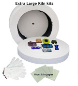 Cheapest 3pcs Large Kiln kits-1pc Large Microwave Kiln 1 Pair of Gloves and 10pcs Kiln Paper