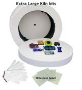 Cheapest 3pcs Large Kiln kits-1pc Large Microwave Kiln 1 Pair of Gloves and 10pcs Kiln Paper