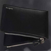 Mens wallet Bow knot PU Leather Card Holders Clips Flower Clutch Long Purse BO9