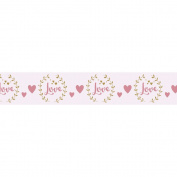 Washi Tape - Love on white background - 15 m x 3 cm