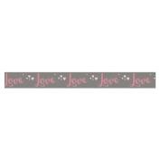 Washi Tape - Love on grey background - 15 m x 3 cm